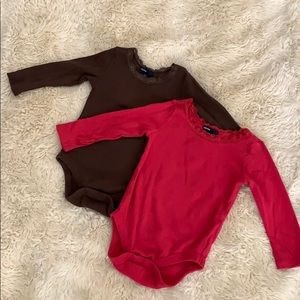 Baby gap knit long sleeve onesie bundle